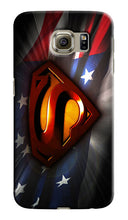 Load image into Gallery viewer, Superman Logo USA Flag Samsung Galaxy S4 5 6 7 8 9 10 E Edge Note Plus Case 4