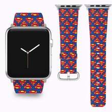 Load image into Gallery viewer, Superman Apple Watch Band 38 40 42 44 mm Series 5 1 2 3 4 Fabric Leather Strap 3