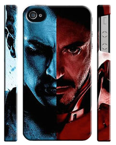 Captain America: Civil War Iphone 4 4s 5 5s 5c 6 6S 7 + Plus Case Cover 11