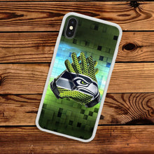 Load image into Gallery viewer, Rubber bumper case Seattle Seahawks for iphone X XS Max XR 5 6 8 7 plus cover