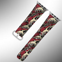 Load image into Gallery viewer, Arizona Coyotes Apple Watch Band 38 40 42 44 mm Fabric Leather Strap 01