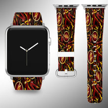 Load image into Gallery viewer, Flash Apple Watch Band 38 40 42 44 mm Series 5 1 2 3 4 Fabric Leather Strap 01