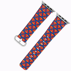 Superman Apple Watch Band 38 40 42 44 mm Series 5 1 2 3 4 Fabric Leather Strap 3