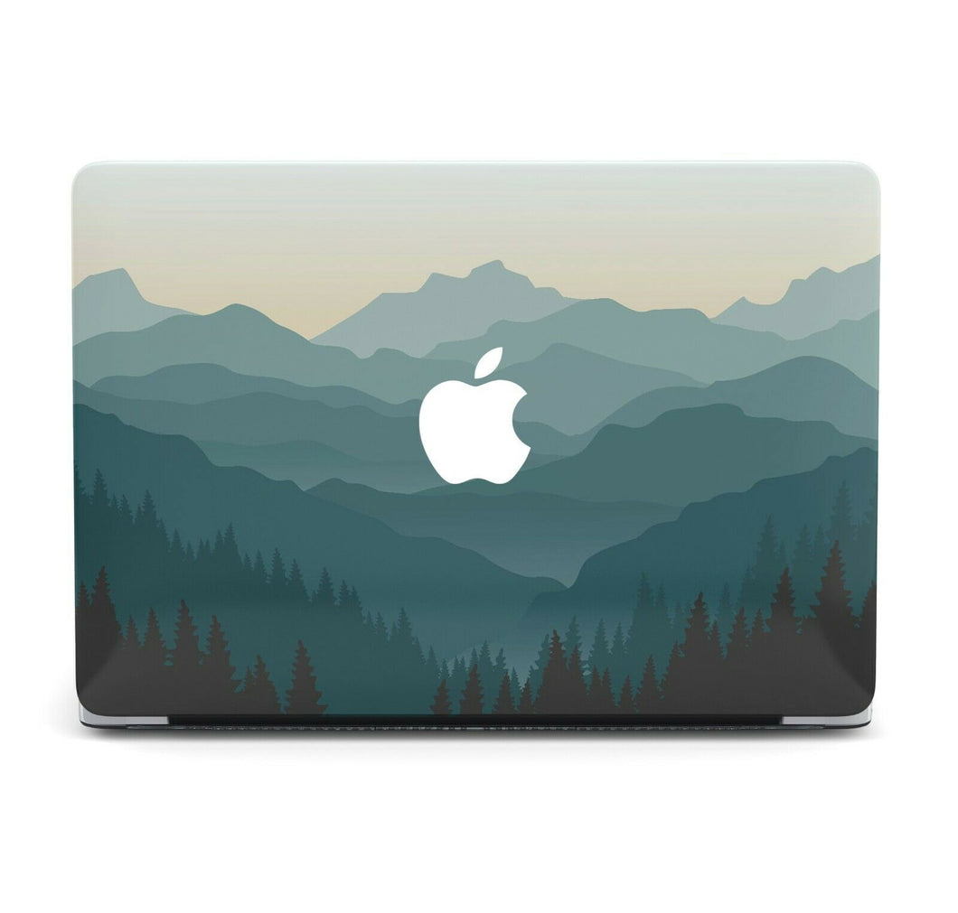 Nature Painted Mountain MacBook case for Mac Air Pro M1 13 16 Cover Skin SN159