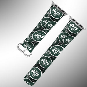 New York Jets Apple Watch Band 38 40 42 44 mm Fabric Leather Strap 1