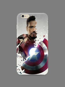 Captain America: Civil War Iphone 4 4s 5 5s 5c 6 6S 7 + Plus Case Cover 1