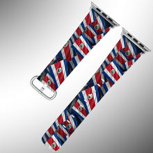 Load image into Gallery viewer, Costa Rica Flag Apple Watch Band 38 40 42 44 mm Series 5 1 2 3 4 Wrist Strap