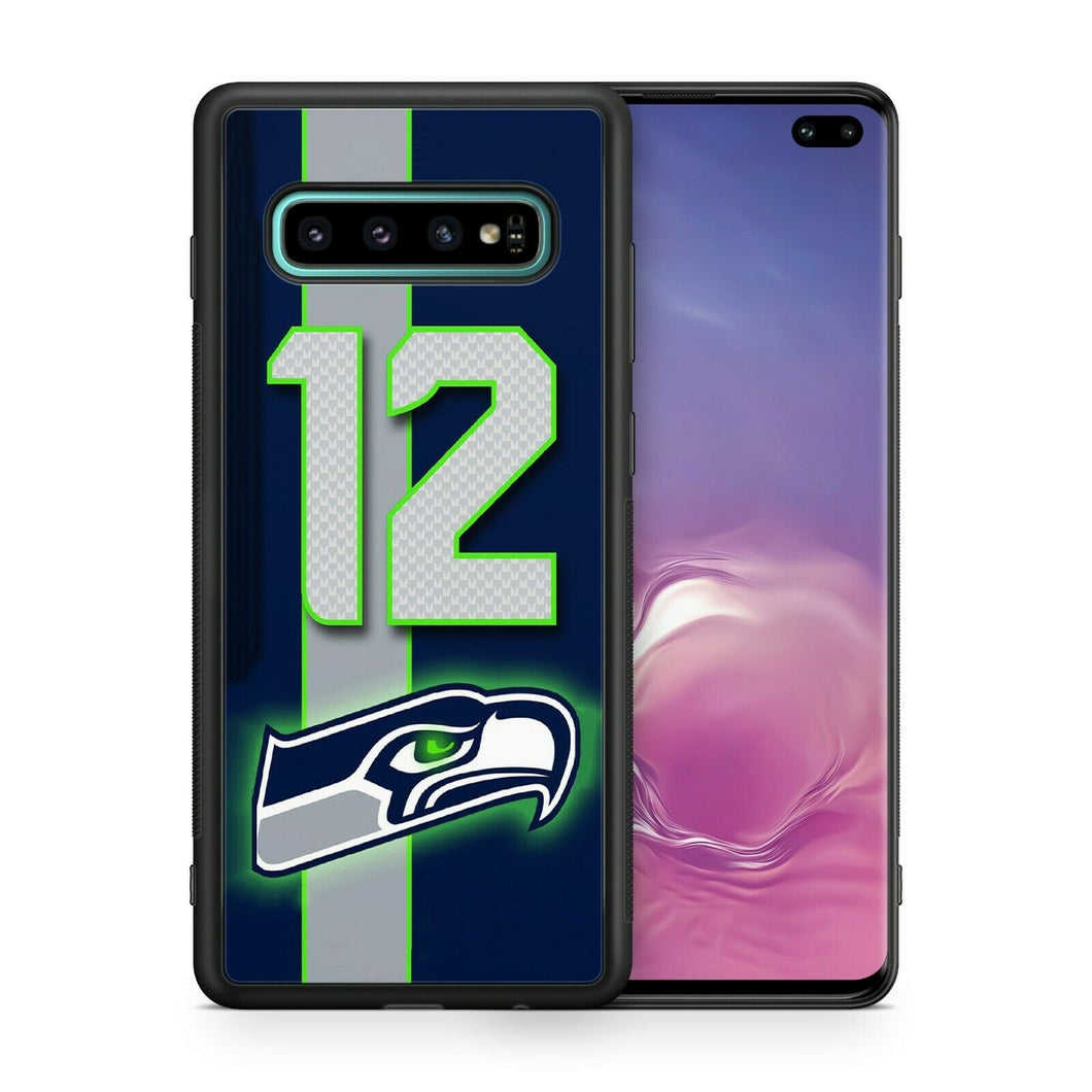 Seattle Seahawks TPU bumper case for Galaxy S10 E S9 plus S8 S7 note 5 S6 S5
