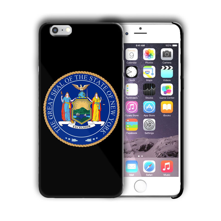 New York Great Seal Emblem Iphone 4 4s 5 5s 5c SE 6 6s 7 + Plus Case Cover 05