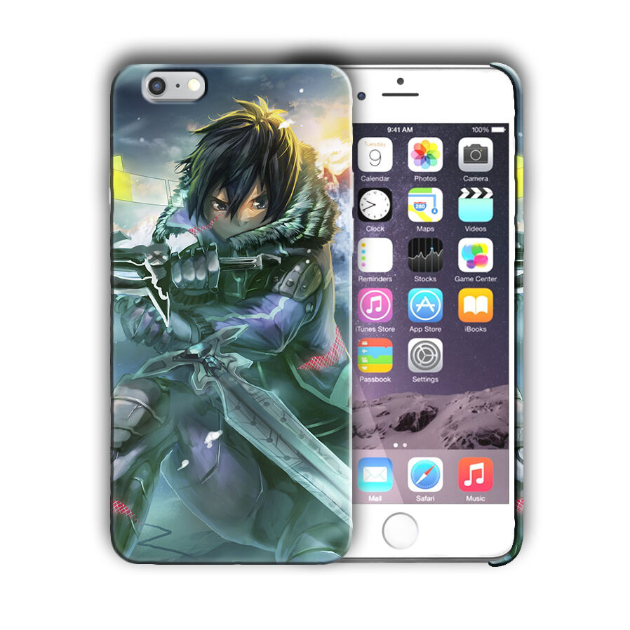 Sword Art Online Kirito Iphone 4 4s 5 5s 5c SE 6 6s 7 8 X XS Max XR Plus Case 07