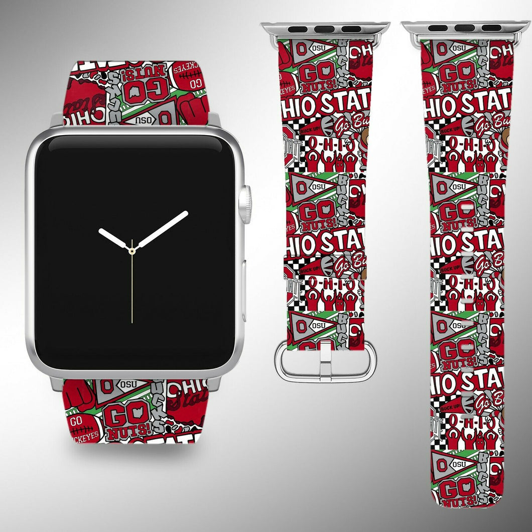 Ohio State Buckeyes Apple Watch Band 38 40 42 44 mm Series 1 - 5 Wrist Strap 4
