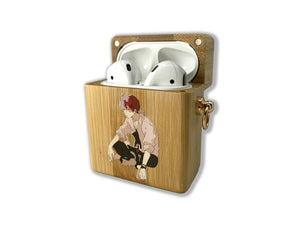 Boku no Hero Academia wooden Case for AirPods 1 2 3 Pro real wood cover SN 163