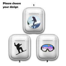 Load image into Gallery viewer, Extreme Sport Snowboard Silicone Case for AirPods 1 2 3 Pro gel clear cover S223
