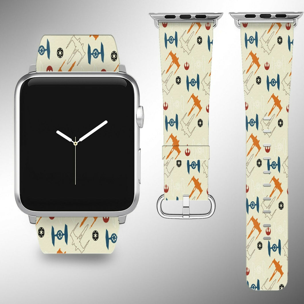 Star Wars Apple Watch Band 38 40 42 44 mm Fabric Leather Strap 10