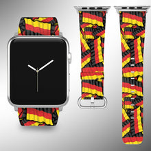 Load image into Gallery viewer, Germany Flag Apple Watch Band 38 40 42 44 mm Series 1 - 5 Fabric Leather Strap