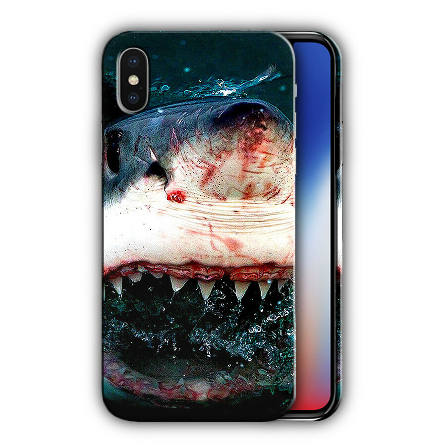 Shark Jaws Iphone 4s 5 5s 5c SE 6 6S 7 8 X XS Max XR 11 Pro Plus Case Cover n5