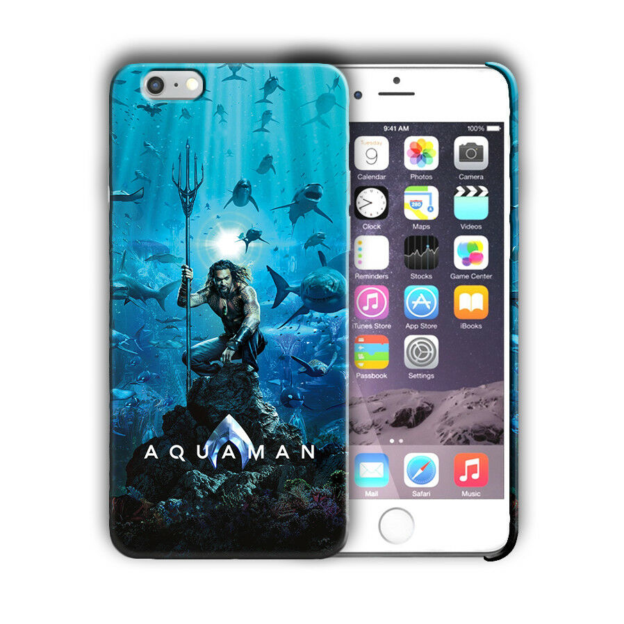Super Hero Aquaman Iphone 4 4s 5 5s 5c SE 6 6s 7 8 X XS Max XR Plus Case n10