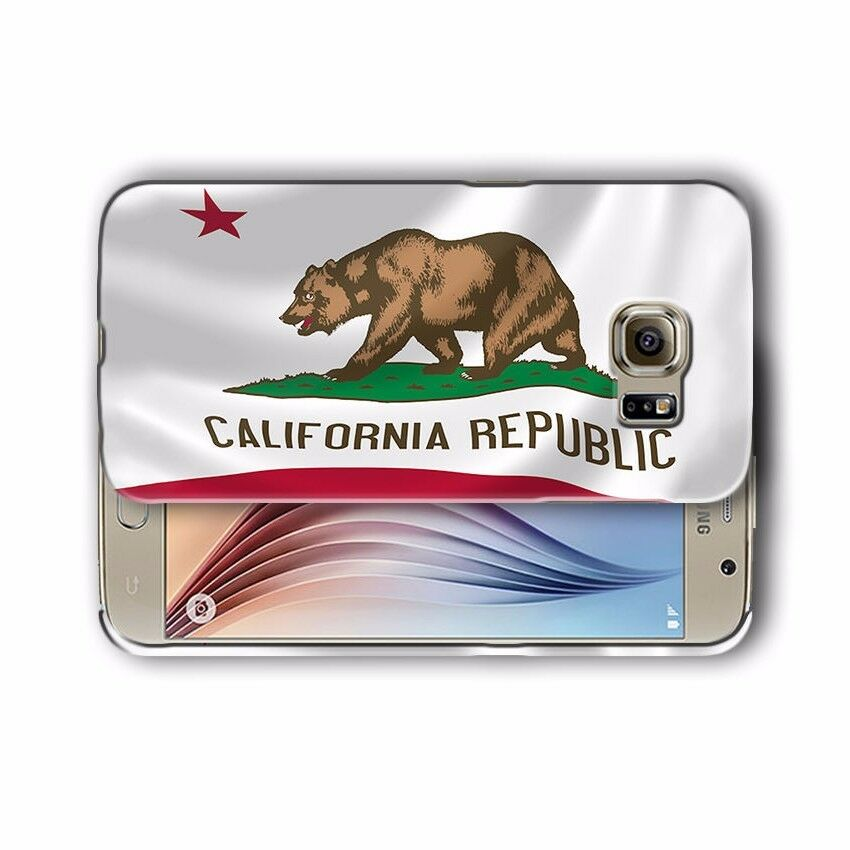 California Flag Samsung Galaxy S4 5 6 7 8 9 10 E Edge Note 3 - 9 Plus Case 02