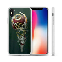 Load image into Gallery viewer, Rubber bumper case Washington Redskins for iphone 5 6 7 8 plus X XS Max XR cover