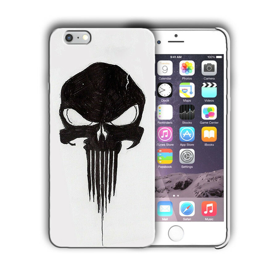 Super Hero Punisher Iphone 4s 5 5s SE 6 6s 7 8 X XS Max XR 11 Pro Plus Case n14