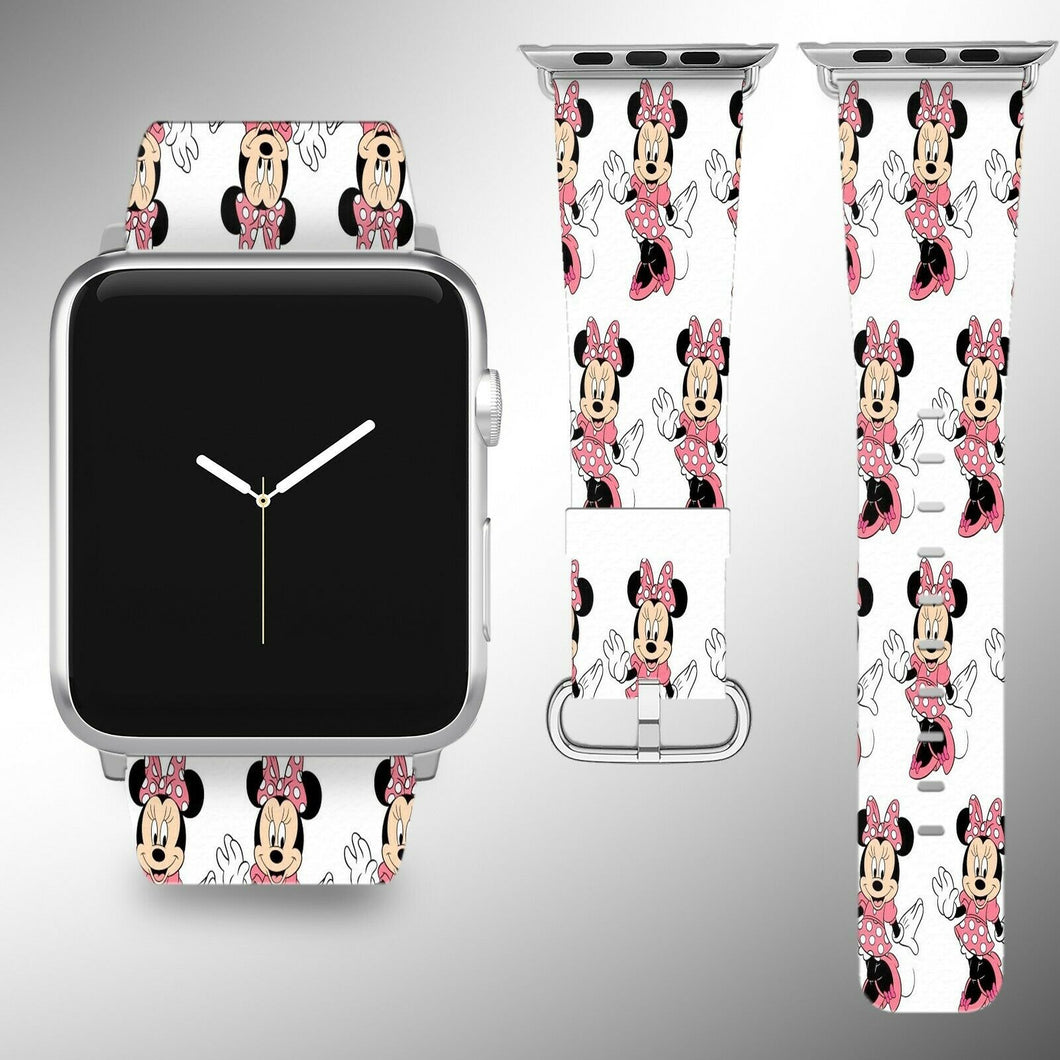 Minnie Mouse Apple Watch Band 38 40 42 44 mm Series 5 1 2 3 4 Wrist Strap 3