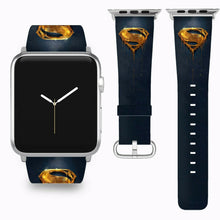 Load image into Gallery viewer, Superman Apple Watch Band 38 40 42 44 mm Series 5 1 2 3 4 Fabric Leather Strap 5