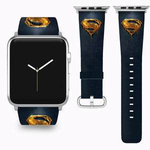 Superman Apple Watch Band 38 40 42 44 mm Series 5 1 2 3 4 Fabric Leather Strap 5