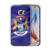 Load image into Gallery viewer, Michigan Symbols Flag Samsung Galaxy S4 S5 S6 S7 Edge Note 3 4 5 Plus Case 04