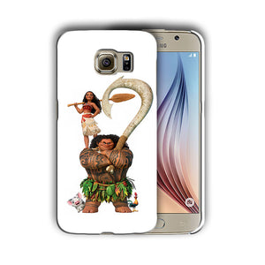 Moana Maui Pua Hei Hei Galaxy S4 5 6 7 Edge Note 3 4 5 Plus Case Cover 2