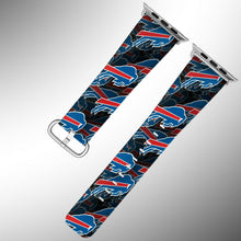 Load image into Gallery viewer, Buffalo Bills Apple Watch Band 38 40 42 44 mm Fabric Leather Strap 1