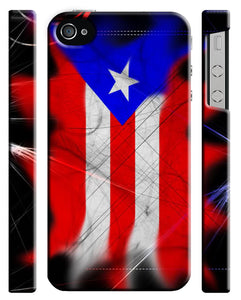 Puerto Rico Symbol Flag Boricua iPhone 4 4S 5 5S 5c 6 6S 7 + Plus Case Cover ip2