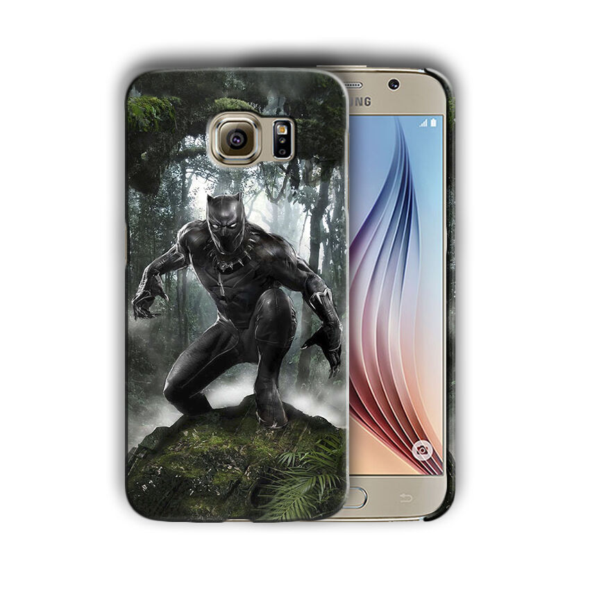 Black Panther Samsung Galaxy S4 5 6 7 8 9 10 E Edge Note 3 - 10 Plus Case n8