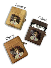 Load image into Gallery viewer, Anime Death Note wooden Case for AirPods 1 2 3 Pro real wood cover SN 183