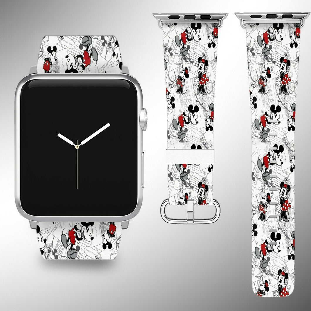Mickey Mouse Apple Watch Band 38 40 42 44 mm Series 5 1 2 3 4 Wrist Strap 4