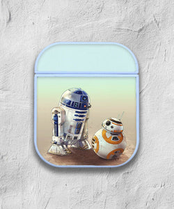 Star Wars BB-8 R2-D2 Droid case for AirPods 1 or 2 protective cover skin