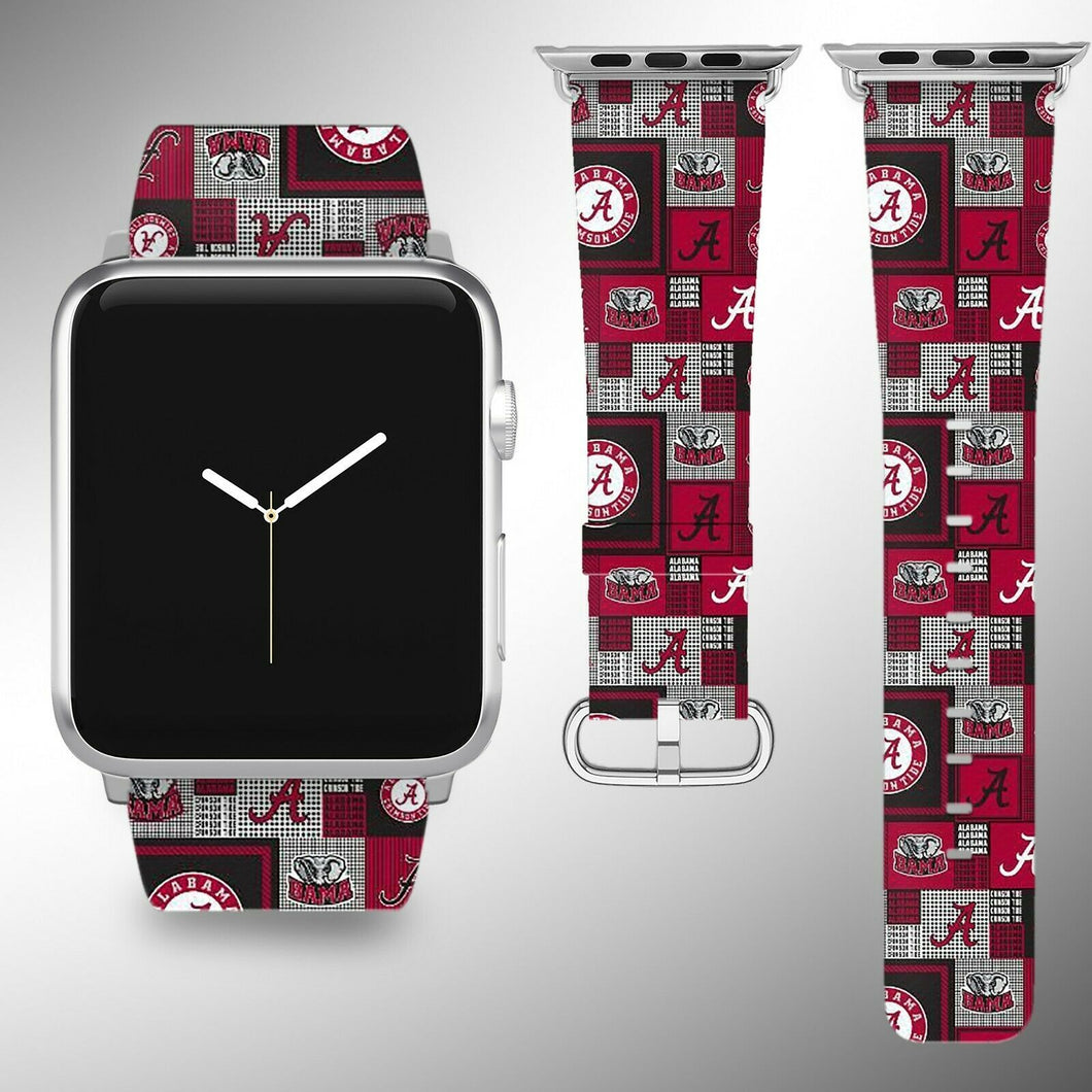 Alabama Crimson Tide Apple Watch Band 38 40 42 44 mm Series 1 - 5 Wrist Strap 2