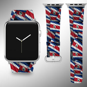 Costa Rica Flag Apple Watch Band 38 40 42 44 mm Series 5 1 2 3 4 Wrist Strap