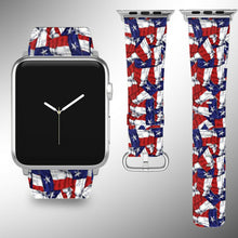 Load image into Gallery viewer, Texas Flag Apple Watch Band 38 40 42 44 mm Series 5 1 2 3 4 Wrist Strap 01