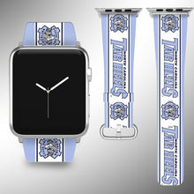 Load image into Gallery viewer, NCarolina Tar Heels Apple Watch Band 38 40 42 44 mm Series 1 - 5 Wrist Strap 2
