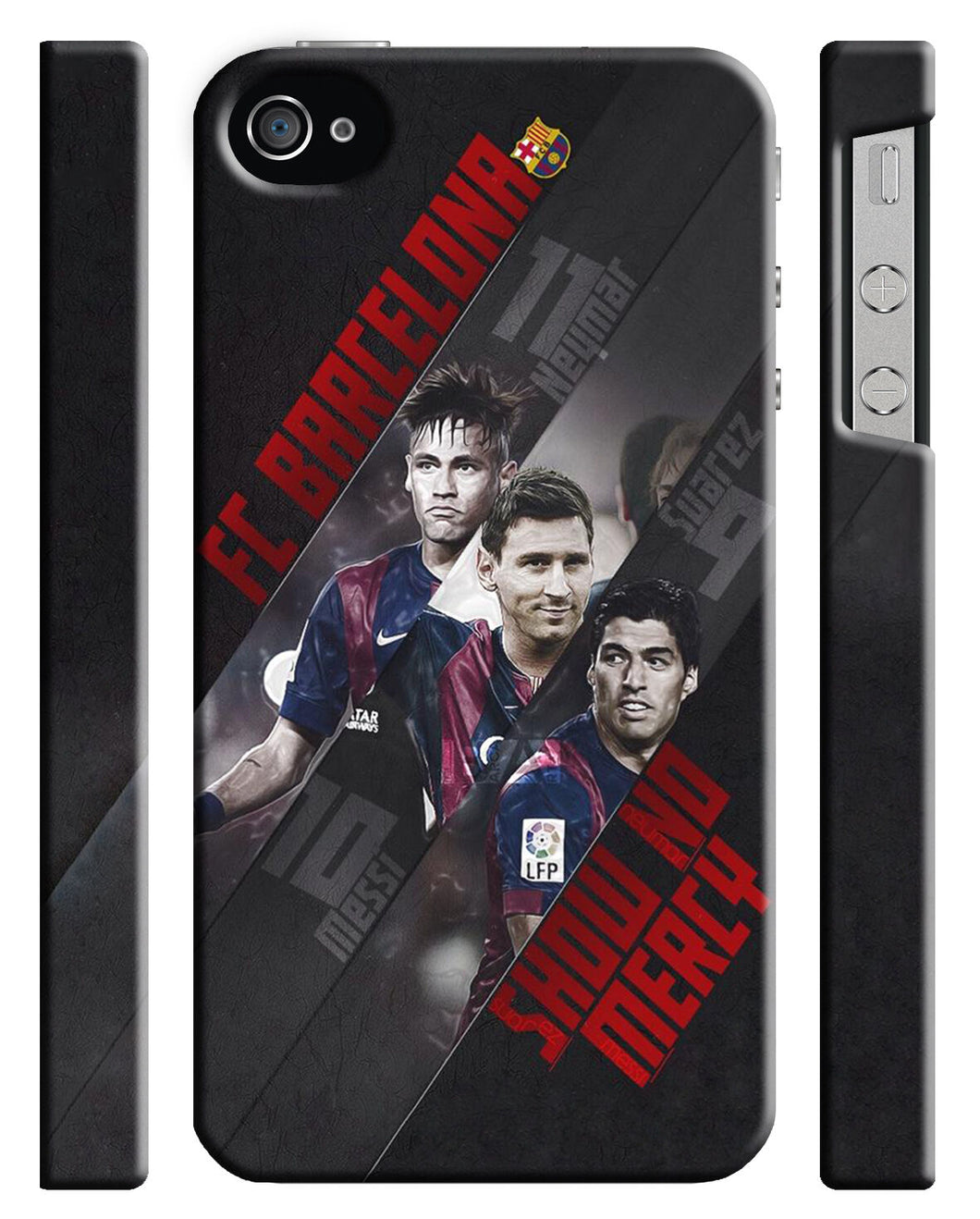 Iphone 4S 5 5s 5c 6 6S 7 8 X XS Max XR Plus SE Case Messi Neymar Suarez  07