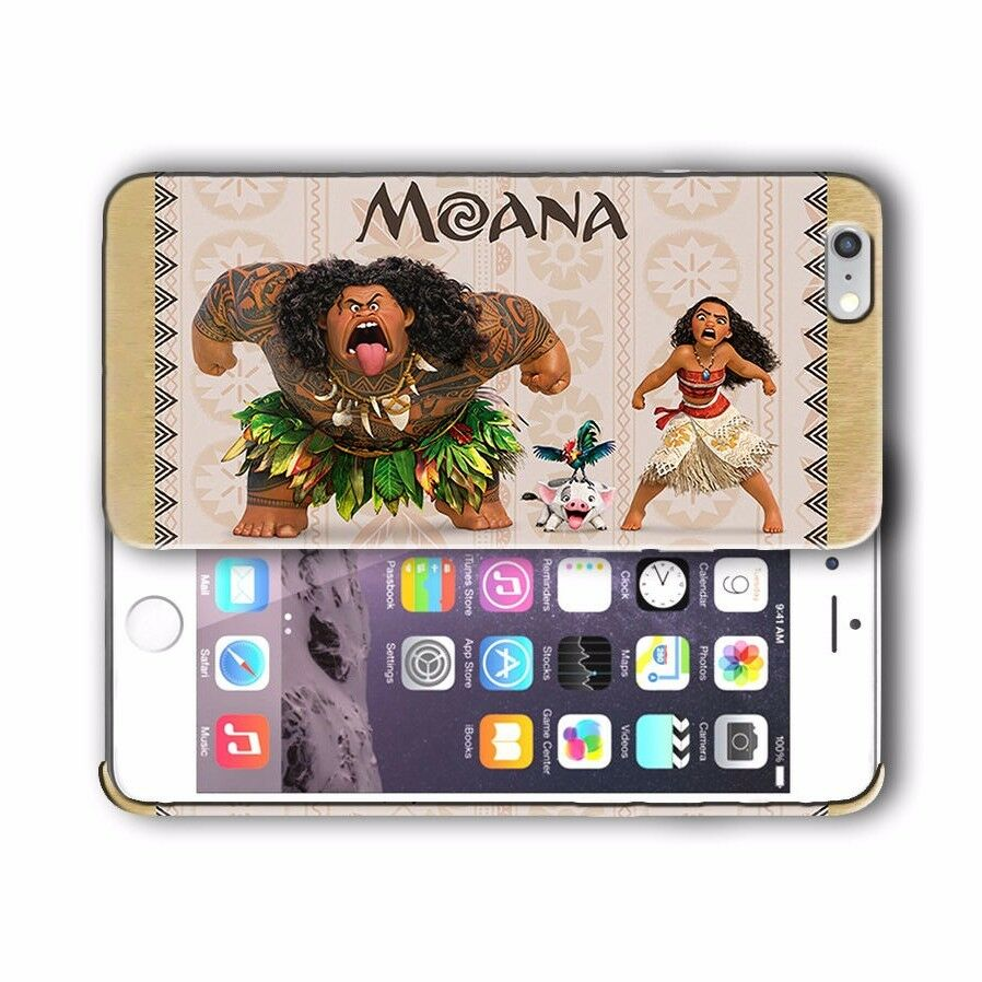Moana Maui Pua Hei Hei Iphone 4 4s 5 5s 5c SE 6 6s 7 Plus Case Cover 08