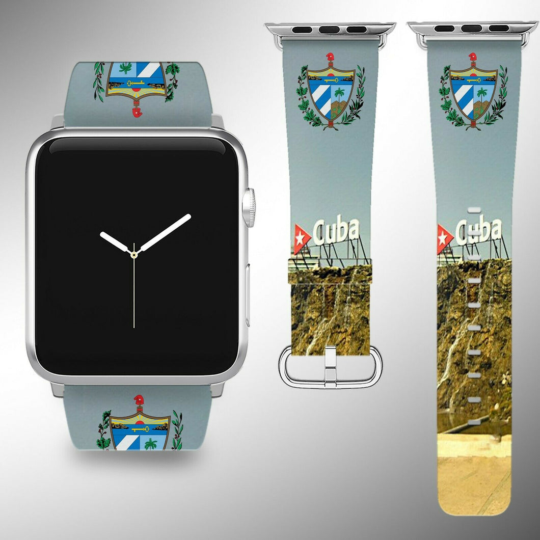 Cuba Coat of Arms Apple Watch Band 38 40 42 44 mm Series 5 1 2 3 4 Wrist Strap