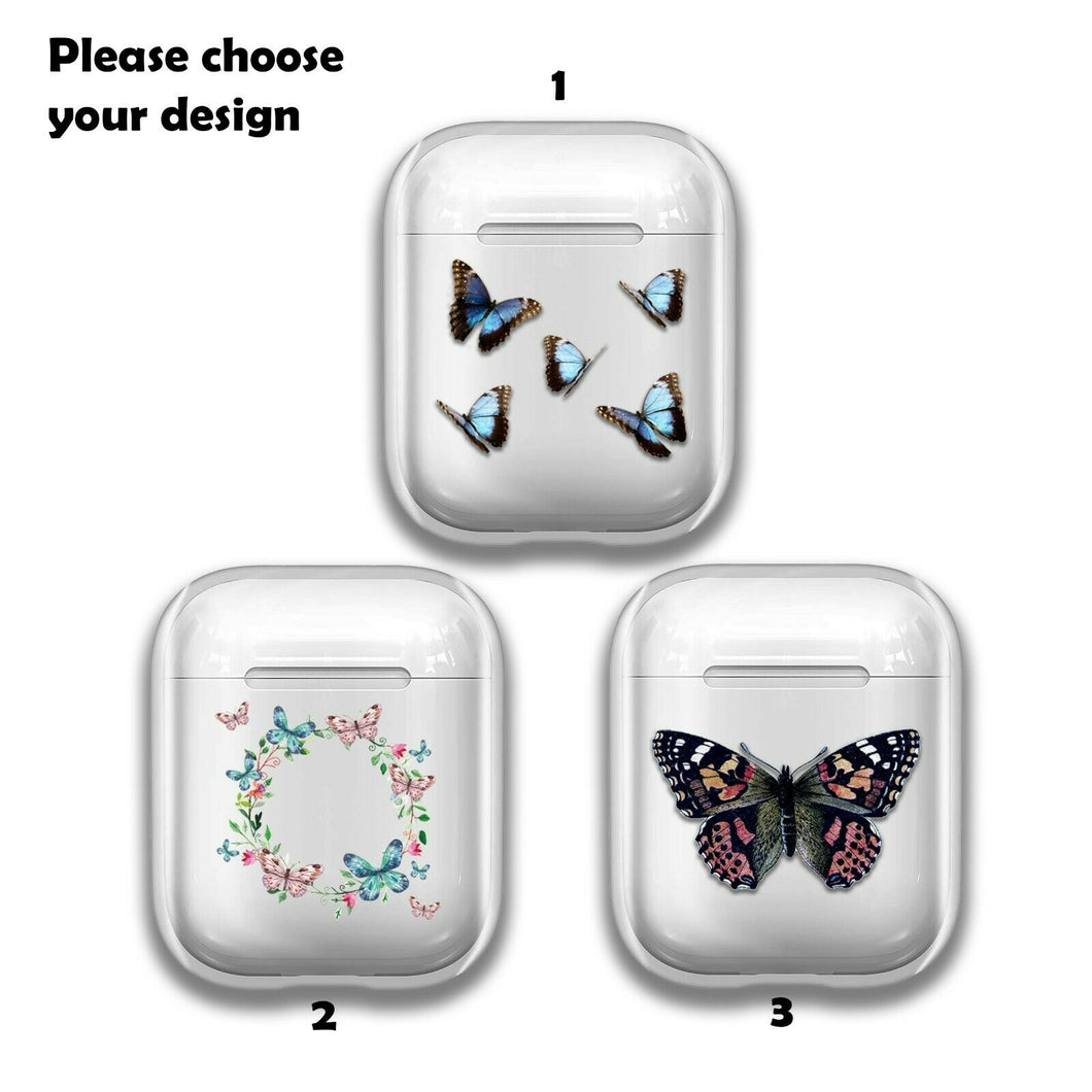 Beautiful Butterfly Silicone Case for AirPods 1 2 3 Pro gel clear cover SN 159