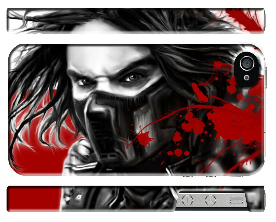 Captain America Civil War Winter Soldier Iphone 4s 5s 5c SE 6S 7 8 X Plus Case 4