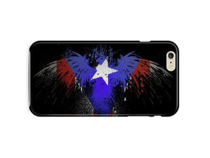 Puerto Rico Symbol Eagle Flag Boricua iPhone 4S 5 5S 5c 6 6S 7 + Plus Case Cover