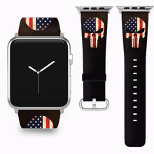 Load image into Gallery viewer, Punisher Apple Watch Band 38 40 42 44 mm Series 5 1 2 3 4 Wrist Strap 04
