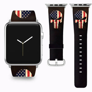 Punisher Apple Watch Band 38 40 42 44 mm Series 5 1 2 3 4 Wrist Strap 04