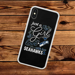 Rubber bumper case Seattle Seahawks for iphone X XS Max XR 8 7 6 5 plus cover