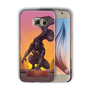 Black Panther Samsung Galaxy S4 5 6 7 8 9 10 E Edge Note 3 - 10 Plus Case n9