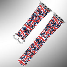 Load image into Gallery viewer, United Kingdom Flag Apple Watch Band 38 40 42 44 mm Series 1 - 5 Wrist Strap 1
